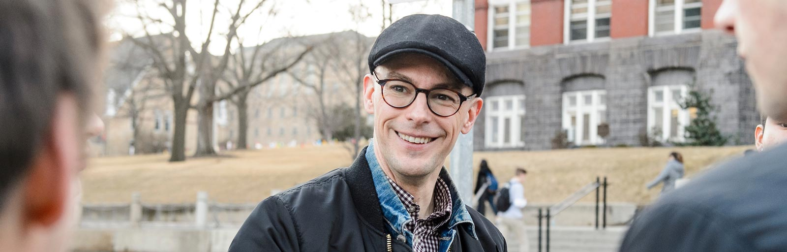 Jerome Camal, assistant professor of anthropology at the University of Wisconsin-Madison, teaches during his Anthropology 490: Anthropology of Sound course.